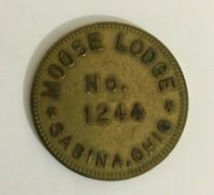Scarce Vintage  MOOSE LODGE 1244 SABINA OHIO 25 Cent Trade Token Coin - $4.94