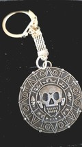 pirate doubloon pieces of eight with chainmail keyring  bronze keychain keyring