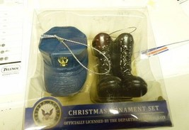 Navy Christmas Ornament Set by Kurt S. Adler,  Cap & Boots - $14.63