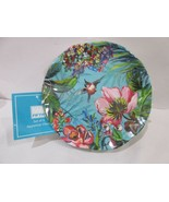 222 Fifth Humming Bird Floral Tropical Melamine Appetizer Plates Set Of 6 - $29.99