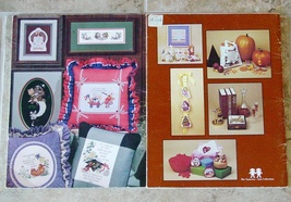 2 Booklets Counted Cross Stitch Holiday Patterns Easter-Christmas-Hallow... - $9.99