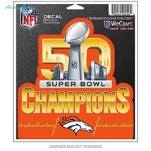 Denver Broncos Official NFL Super Bowl 50 Champions Decal by Wincraft 45... - $9.36