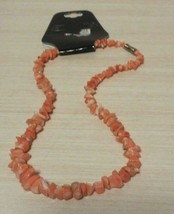 Vintage Pink conch Shell Necklace with barrel clasp - $26.71