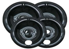 Range Kleen P119204XN 4 Pack Style B Black Porcelain Drip Bowls 2 Small ... - £18.79 GBP