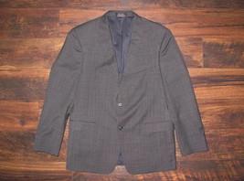 Tommy Hilfiger 42R Blazer Jacket Wool Blend 2 Button Sport Coat Gray PER... - $37.99