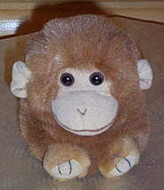 "Puffkins Plush 5"" AMBER Brown & Tan Monkey Needs Home - $4.44"