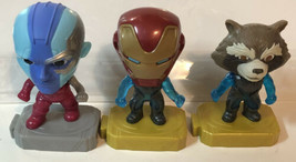 Avengers McDonald's Toys Lot Of 3 Happy Meal Iron Man Rocket - $8.90