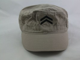 "2 Chevron Hat Beige Fitted 22"" Army Cap - $14.74"