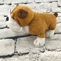 Webkinz Ganz Pug Bull Dog Plush Brown White Stuffed Animal Soft Toy Puppy - $7.91
