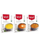 Waah Organic Ready to eat Indian Meals, Variety Pack of 3: 1 Dal Tadka, ... - $16.07