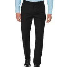 New Maximos USA Men's Premium Slim Fit Dress Pants Slacks Flat Front Black PB-02