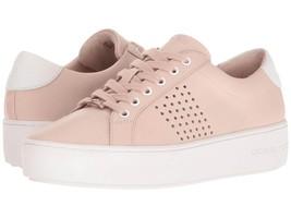 Michael Kors MK Women's Premium Poppy Lace Up Fashion Sneakers Shoes Soft Pink
