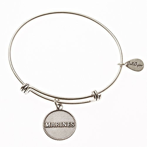 "Authentic Bella Ryann ""Marines"" adjustable wire bangle silver (Same day shipping"