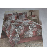Reversible Floral Quilted Mariana comforter set with Bedskirt And Shams,... - $48.49