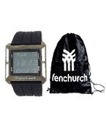 Fenchurch Gents Digital Chronograph Black Rubber Watch & Gym Bag Gift Se... - $40.02