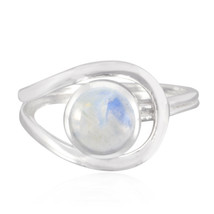 Lovely Gemstones Round cabochon Rainbow ring - 925 Silver gift for colle... - $12.51