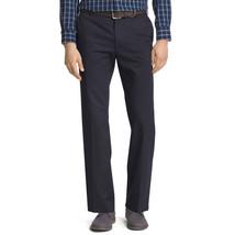 IZOD Men American Work Dress Flat Front Navy Chino Pant Wrinkle Free 42x... - $15.95