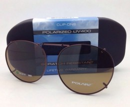 COCOONS Amber Polarized Sunglasses / Eyeglasses Over Rx Clip-on RND 2-50... - $49.95