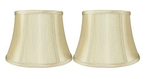 Urbanest Set of 2 Softback 7-inch by 10-inch by 7-inch Faux Silk Bell Lamp Shade