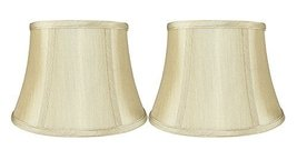 Urbanest Set of 2 Softback 7-inch by 10-inch by 7-inch Faux Silk Bell Lamp Shade - $39.59