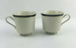 Mikasa Ivory China M2004 Trafalgar Japan Mugs Cups Lot Of Two No  Saucers - $12.77