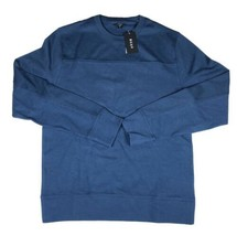 DKNY Mens blue Cotton Crew Neck Long Sleeves Pullover Sweater Medium - $19.79