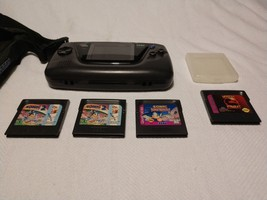 Sega Game Gear System(Original) Lot with 4 games & carrying case - $70.13