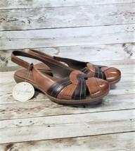 Naturalizer Natural Soul Brown Leather Slingback Sandals Size 9 - $24.99