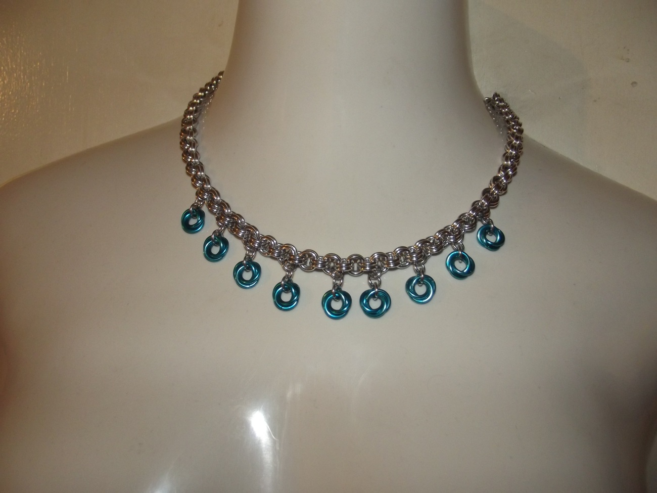 Rosette Chainmaille Necklace