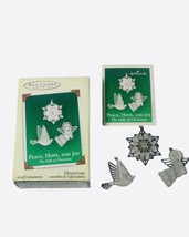 Peace Hope And Joy Miniature 2005 The Gift Of Christmas Set 3 Hallmark O... - $9.99