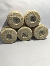 5 Balls J P Coats, Six Cord Crochet Cotton, 325 Yards, Ivory,  Size 20, NOS - $19.39