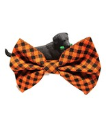 """Orange Bows for dog collars, Plaid Cat Bow Tie, 3"""" 4"""" or 5"""" long, Fall A... - $5.25+"""