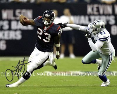 ARIAN FOSTER AUTOGRAPHED 8x10 RP PHOTO HOUSTON TEXANS