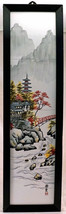 Hand Painted JAPANESE Tile Art Wall Decor 4 Pieces 1 Picture Landscape &... - $99.99