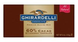 Ghirardelli Chocolate Baking Bar, 60% Cacao Bittersweet Chocolate, 4-Ounce Bars  - $120.98