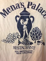 Mena's Palace New Orleans French Quarter T-Shirt Size Medium Vintage Tee... - $28.04