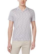 Alfani Men's Striped Cotton Polo, Bright White, Size S, MSRP $50 - $19.79