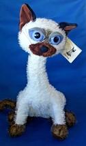 "Carlton Cards Siamese Kitty Cat Ching Poseable Plush Toy Stuffed Animal 14"" - $13.91"