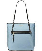 NWT MICHAEL KORS LEILA LARGE NYLON TOTE PALE BLUE - $123.84