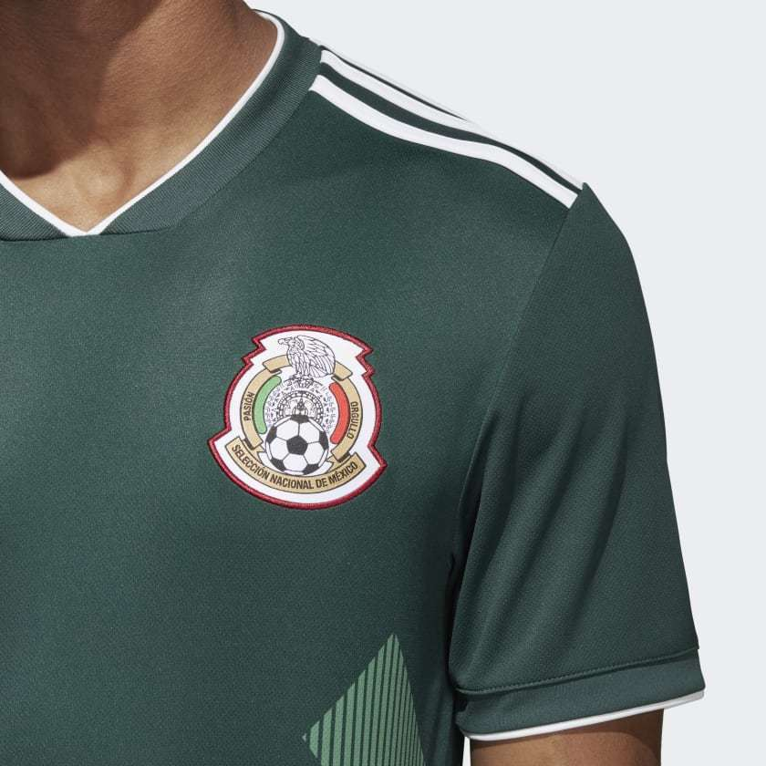 2fe12a6062f ADIDAS HIRVING LOZANO MEXICO HOME JERSEY FIFA WORLD CUP 2018 PATCHES.