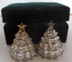 Vintage Silver Treasures Godinger Christmas Tree Salt & Pepper Shakers  - $9.99