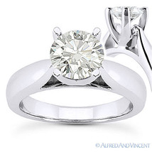 Round Cut Forever Brilliant Moissanite 14k White Gold Solitaire Engageme... - £887.89 GBP+