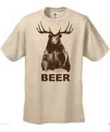T-Shirts New Mens Funny Beer T-Shirt Bear Deer - $16.73