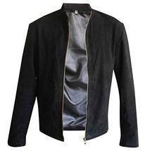 James Bond Spectre 007 Daniel Craig Black Suede Leather Jacket image 1