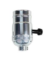 Jandorf  Turn Knob Socket  250 watts 250 volts Nickel  Medium - $11.86