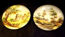 Bellagio Painted Italy Plates 10 inch AA19-1642 Vintage Pair image 7