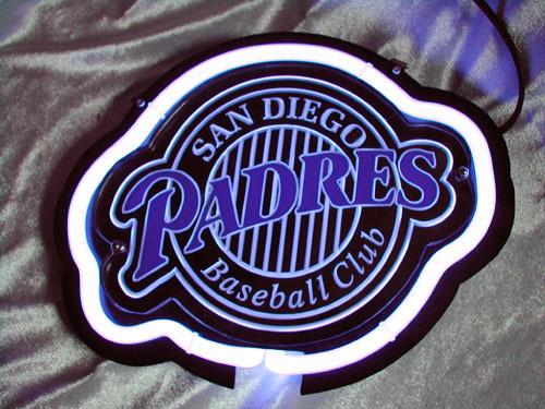 "MLB San Diego Padres Baseball Beer Bar 3D Neon Light Sign 12"" x 9"""