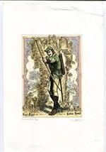 Errol Flynn as Robin Hood Etching by Gerson Kovacs - $224.31