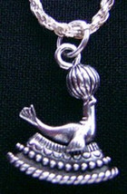 NICE 2270 New Adorable Sterling Silver Circus Seal tricks Ball Pendant C... - $12.15
