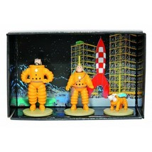 Mini Collectible metal figure set Tintin & Destination Moon MOULINSART NEW